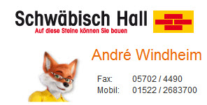 Ihr Schwäbisch Hall Berater Andre Windheim